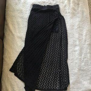 Dresses & Skirts - Black crochet maxi skirt